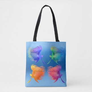 Colorful Betta Splendens Fish All Over Tote Bag