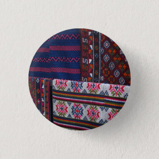 Colorful Bhutan Textiles 1 Inch Round Button