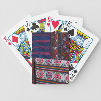 Colorful Bhutan Textiles Bicycle Playing Cards