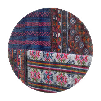 Colorful Bhutan Textiles Boards