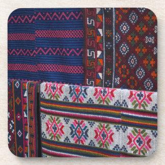 Colorful Bhutan Textiles Coaster