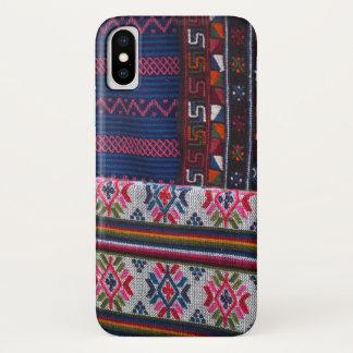 Colorful Bhutan Textiles iPhone X Case