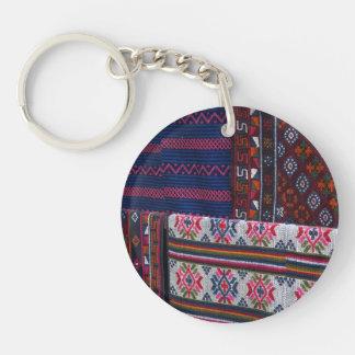 Colorful Bhutan Textiles Keychain