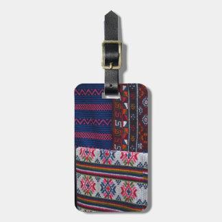 Colorful Bhutan Textiles Luggage Tag