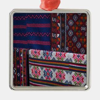 Colorful Bhutan Textiles Metal Ornament