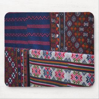 Colorful Bhutan Textiles Mouse Pad