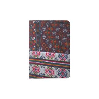 Colorful Bhutan Textiles Passport Holder