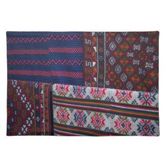 Colorful Bhutan Textiles Placemat