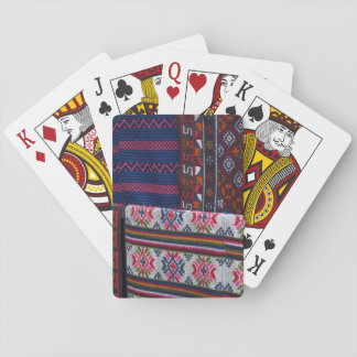 Colorful Bhutan Textiles Playing Cards
