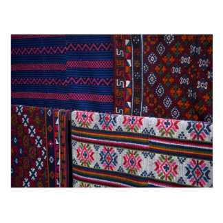 Colorful Bhutan Textiles Postcard