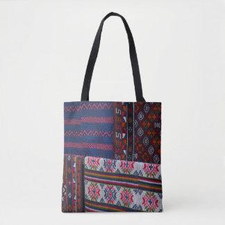 Colorful Bhutan Textiles Tote Bag