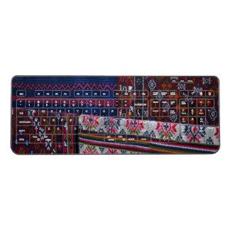 Colorful Bhutan Textiles Wireless Keyboard
