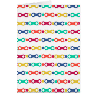 Colorful Bicycle Chain Greeting Card
