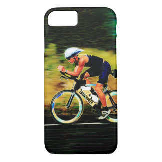 Colorful Bicycle Rider With Your Personal Name iPhone 8/7 Case