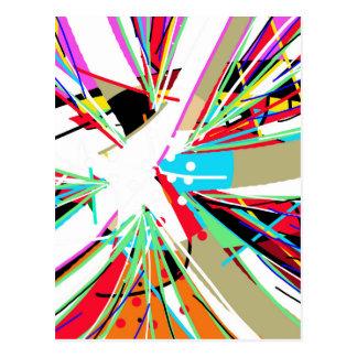 Colorful big bang postcard