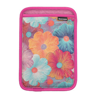 Colorful big flowers artistic floral background iPad mini sleeve