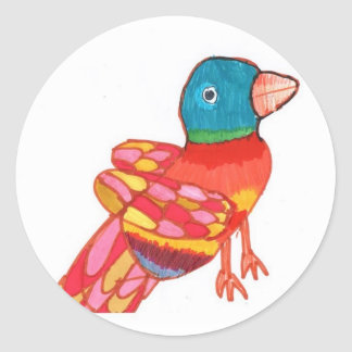 Colorful Bird Sticker
