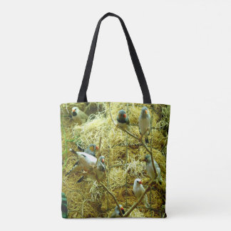 Colorful Birds in an Enclosed Natural Habitat Tote Bag
