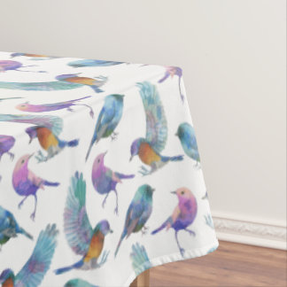 Colorful Birds Seamless Pattern Tablecloth