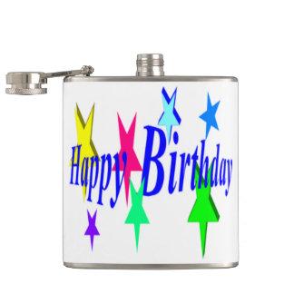 Colorful Birthday Flasks
