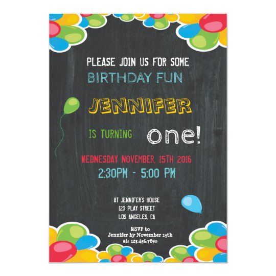 COLORFUL BIRTHDAY INVITATION FOR BOYS AND GIRLS