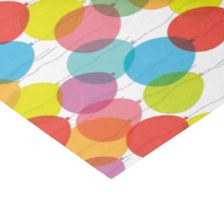 Colorful Birthday Party Balloons Tissue Paper