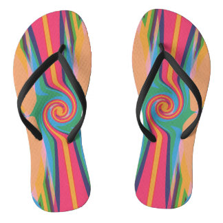 Colorful Bizarre Adult Flip Flops