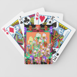 Colorful Black Iris Garden Art design by sharles Bicycle Playing Cards