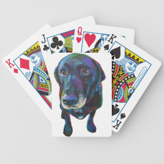 Colorful Black Labrador Bicycle Playing Cards