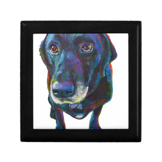 Colorful Black Labrador Gift Box