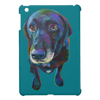 Colorful Black Labrador iPad Mini Cases