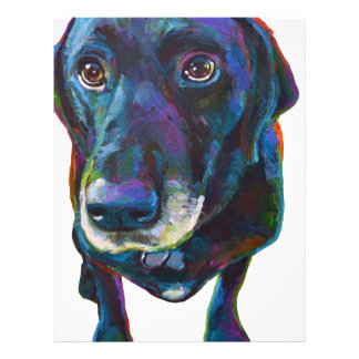 Colorful Black Labrador Letterhead