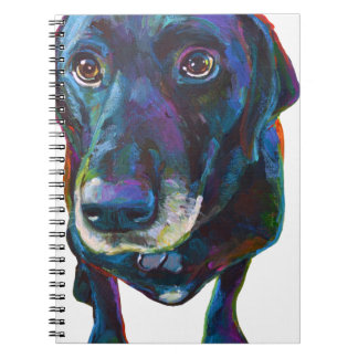 Colorful Black Labrador Spiral Notebook