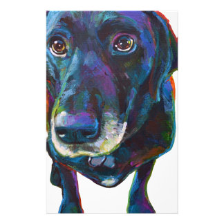Colorful Black Labrador Stationery