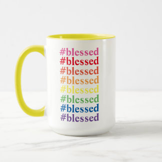Colorful #blessed Mug