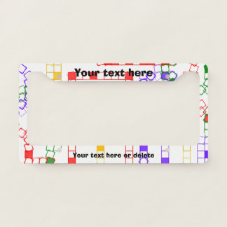 Colorful Blocks License Plate Frame