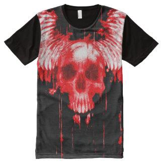 Colorful Bloody Skull Angel Messenger