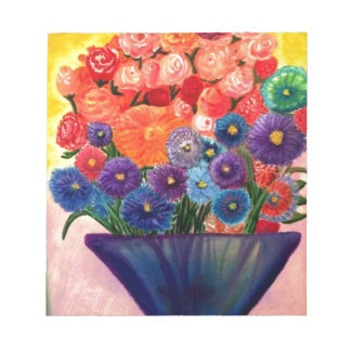 Colorful Blooms design Notepads