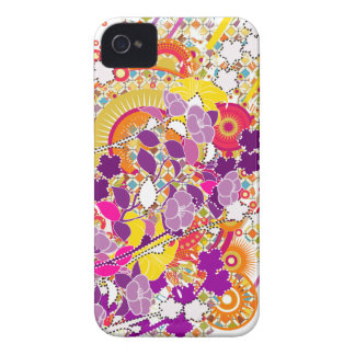 Colorful Blooms iPhone 4 Case-Mate Cases