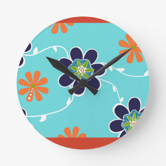 Colorful Blooms Wall Clock