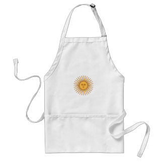Colorful Blue and Yellow Smiling Sun of May Standard Apron