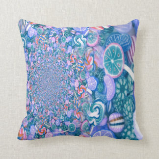 Colorful Blue Candy Pillow