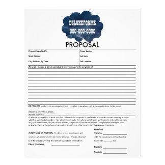 Colorful Blue Clouds Proposal Form Letterhead Template