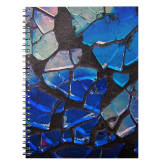 Colorful Blue Glass Mosaic Notebooks
