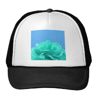 Colorful Blue Green Floral Trucker Hat