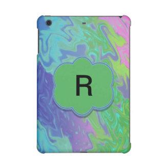Colorful Blue Green Splash Abstract iPad Mini Retina Covers