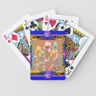 Colorful Blue Iris Garden by Sharles Poker Deck