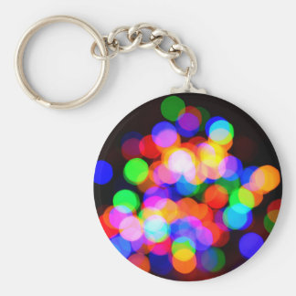 Colorful blurred lights keychain