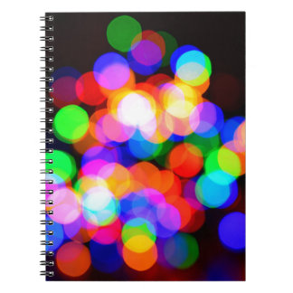 Colorful blurred lights notebook