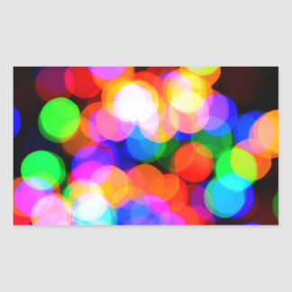 Colorful blurred lights sticker